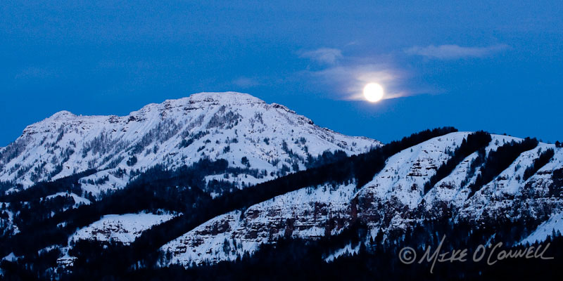 Moonrise over Mt. Norris