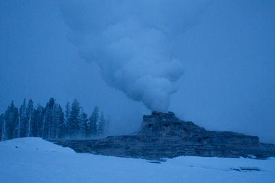 Castle Geyser at First Light